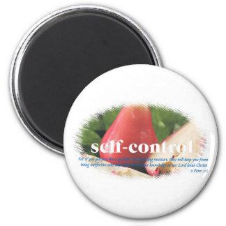 Self Control 6 Cm Round Magnet