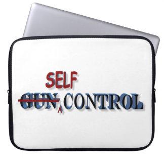 Self-Control Over Gun Control Laptop Sleeve