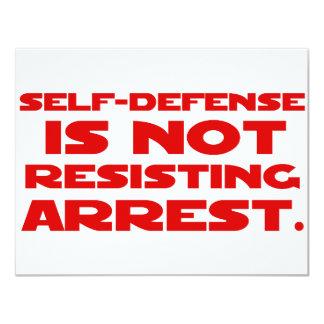 Self-Defense1 11 Cm X 14 Cm Invitation Card