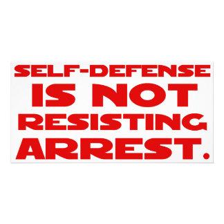 Self-Defense1 Customized Photo Card