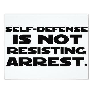 Self-Defense3 11 Cm X 14 Cm Invitation Card