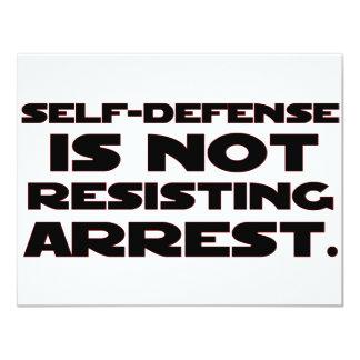 Self-Defense4 11 Cm X 14 Cm Invitation Card