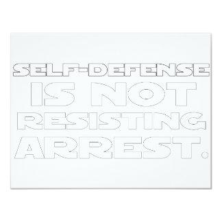 Self-Defense5 11 Cm X 14 Cm Invitation Card