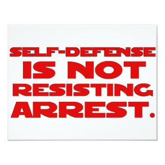 Self-Defense6 11 Cm X 14 Cm Invitation Card