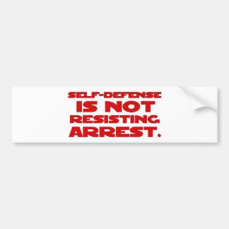 Self-Defense6 Bumper Stickers