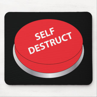 Self Destruct Button Mouse Mat