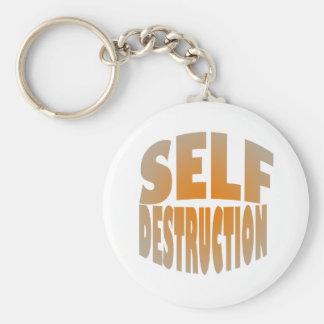self destruction keychains