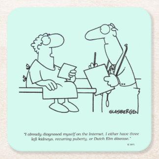 Self-Diagnosis Square Paper Coaster
