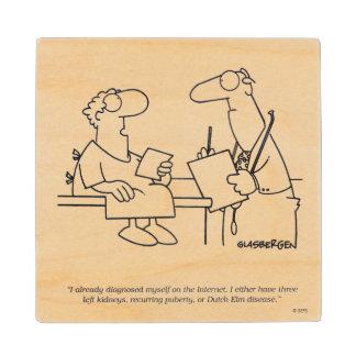 Self-Diagnosis Wood Coaster