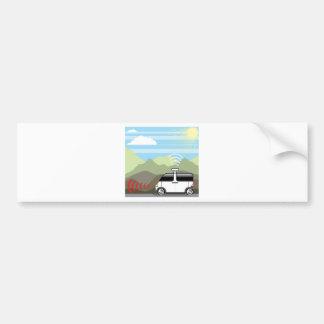Self-driving car. Driverless car. Bumper Sticker
