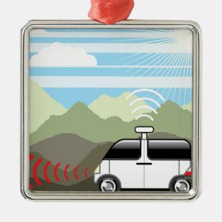 Self-driving car. Driverless car. Christmas Ornament