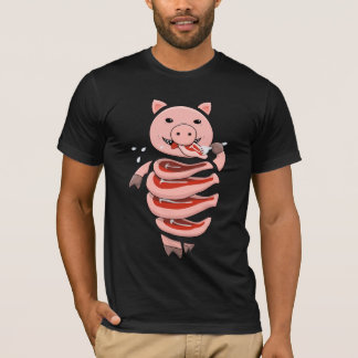 Self Eating Cannibal Pig Cut In Steaks T-Shirt