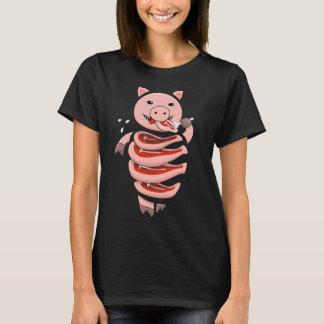 Self Eating Cannibal Pig Cut In Steaks Womens T-Shirt