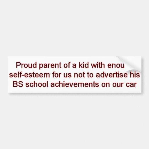 Self Esteem Bumper Sticker