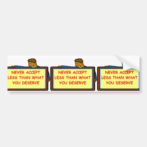 self esteem bumper stickers
