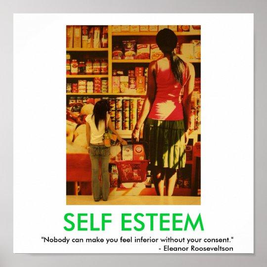 SELF ESTEEM motivational poster
