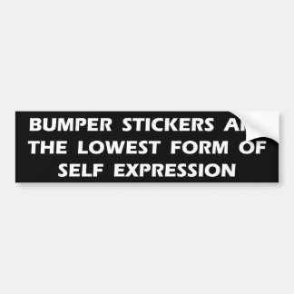 Self Expression Bumper Sticker