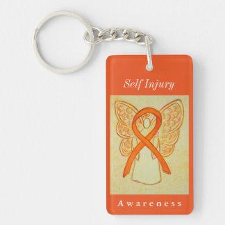 Self Injury Awareness Guardian Angel Keychain