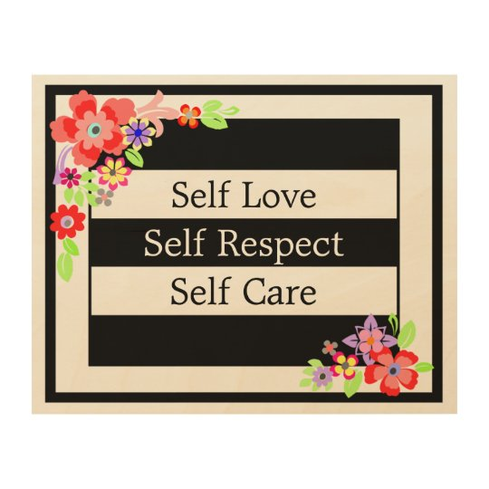 """Self Love"" Gorgeous Floral Wood Wall Art. Wood"