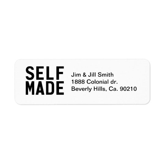 Self Made Independant Return Address Label