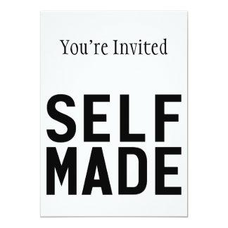 Self Made Independent 13 Cm X 18 Cm Invitation Card