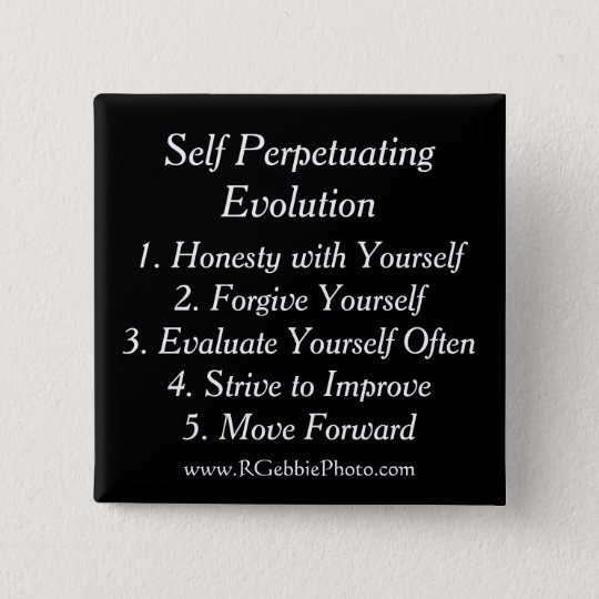 Self Perpetuating Evolution, The Five Keys 15 Cm Square Badge