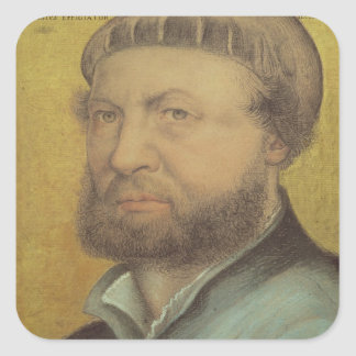 Self Portrait, 1542 Square Sticker