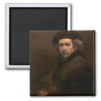 Self-Portrait, 1659 (oil on canvas) Square Magnet