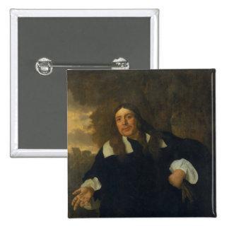 Self Portrait, 1662 15 Cm Square Badge