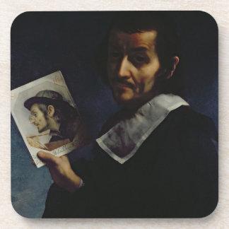 Self Portrait, 1674 (oil on canvas) Beverage Coasters