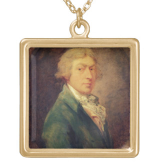 Self Portrait, 1787 (oil on canvas) 2 Gold Plated Necklace