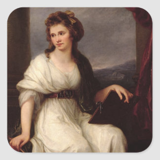 Self Portrait, 1787 (oil on canvas) Square Sticker