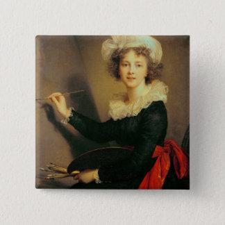 Self Portrait, 1790 (oil on canvas) 15 Cm Square Badge