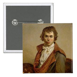 Self Portrait, 1794 15 Cm Square Badge