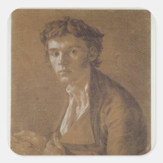 Self Portrait, 1802 Square Sticker