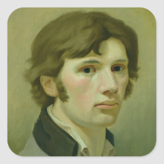 Self-portrait, 1802 square sticker