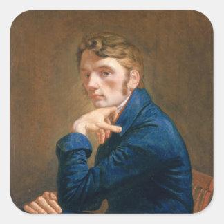 Self Portrait, 1805 Square Sticker