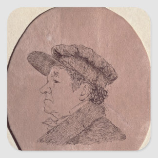 Self Portrait, 1824 Square Sticker