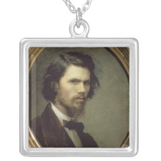 Self Portrait, 1867 Silver Plated Necklace