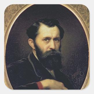 Self Portrait, 1870 Square Sticker