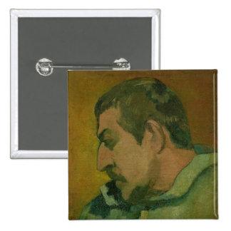 Self Portrait, 1896 15 Cm Square Badge