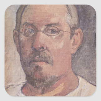 Self portrait, 1902-3 square sticker