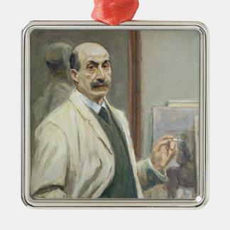 Self Portrait, 1910 Silver-Colored Square Decoration