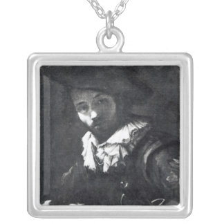 Self-portrait 2 silver plated necklace