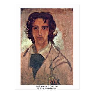 Self-Portrait As A Young Man Postcard