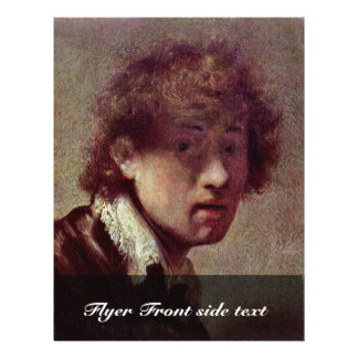 Self Portrait At An Early Age. By Rembrandt Van Full Color Flyer