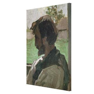 Self Portrait at Saint-Saveur, 1868 Canvas Print