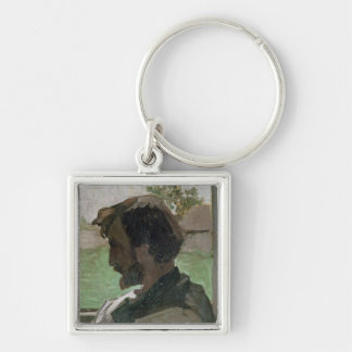Self Portrait at Saint-Saveur, 1868 Silver-Colored Square Key Ring