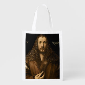 Self Portrait at the Age of Twenty-Eight, 1500 Reusable Grocery Bag