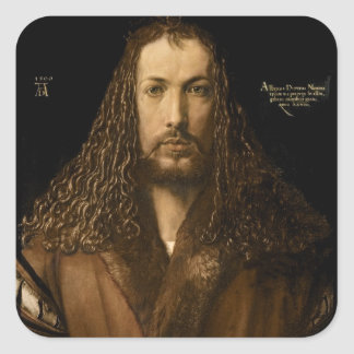 Self Portrait at the Age of Twenty-Eight, 1500 Square Sticker